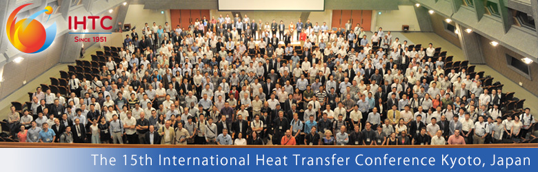 August the 10-15th 2014. Heat Transfer Olympic Kyoto, Japan